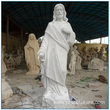 Outdoor Life Size Catholic White Marble Jesus Sculptures